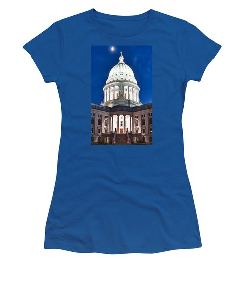 Wisconsin State Capitol Building At Night Women's T-Shirt