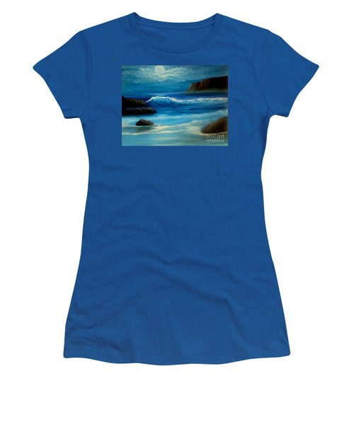Women's T-Shirt (Junior Cut) featuring the painting Illuminated by Holly Martinson