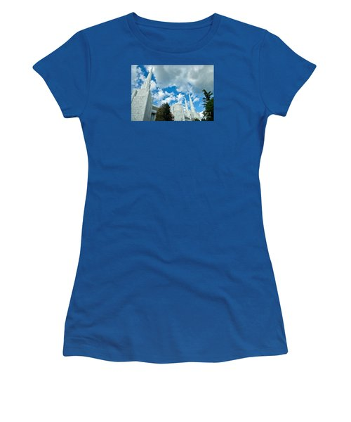 Women's T-Shirt (Junior Cut) featuring the photograph Portland Oregon Lds Temple by Nick  Boren