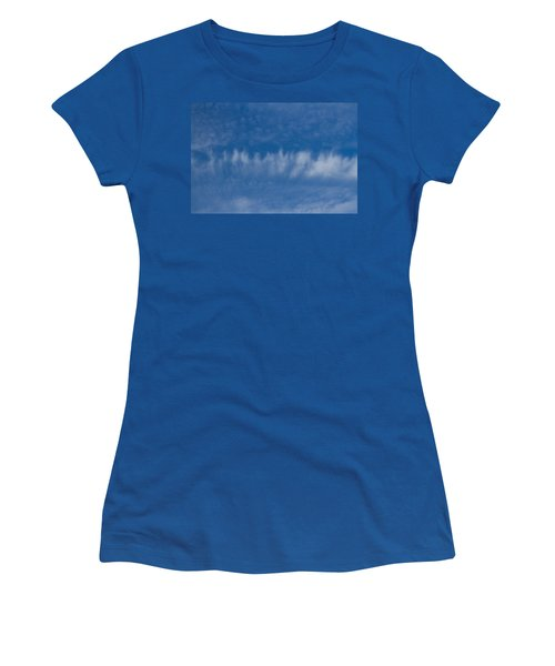 Women's T-Shirt (Junior Cut) featuring the photograph A Batch Of Interesting Clouds In A Blue Sky by Eti Reid