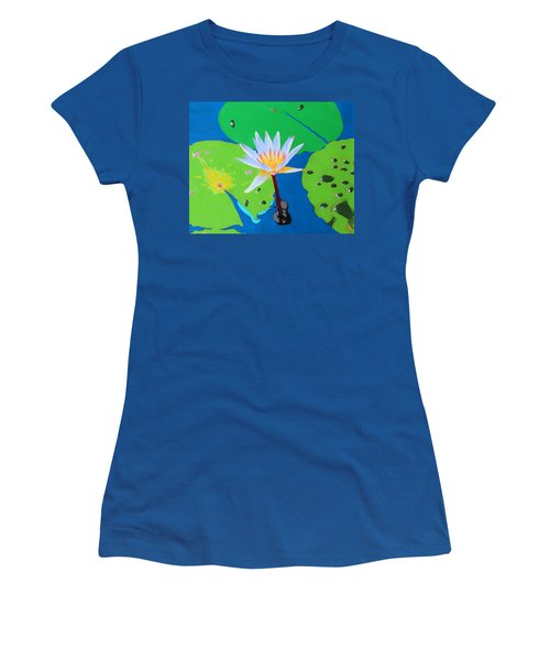 A Water Lily In Its Pad Women's T-Shirt