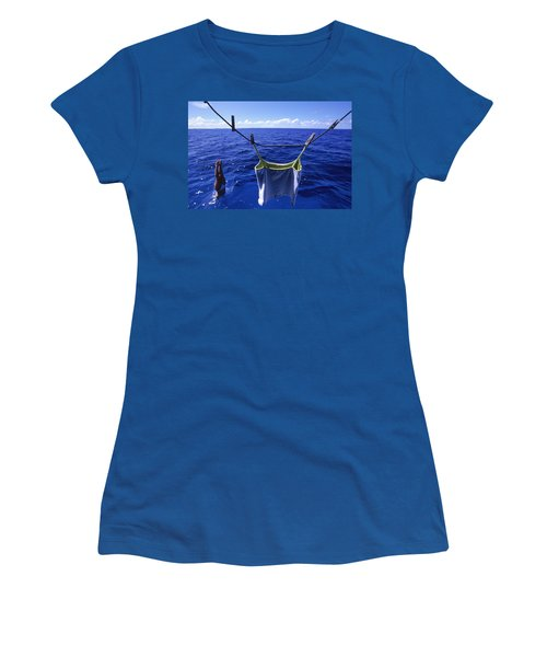A Woman Dives Straight Into The Sea Women's T-Shirt