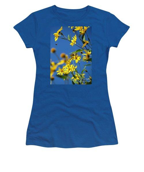 Action Women's T-Shirt (Junior Cut) by France Laliberte