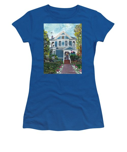Alameda 1887 - Queen Anne Women's T-Shirt (Junior Cut) by Linda Weinstock
