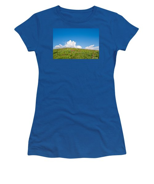 Alpine Meadow And Cloud Formation Women's T-Shirt