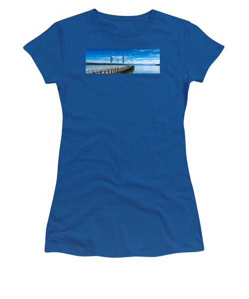 Women's T-Shirt (Junior Cut) featuring the photograph Ammersee - Lake In Bavaria by Juergen Klust