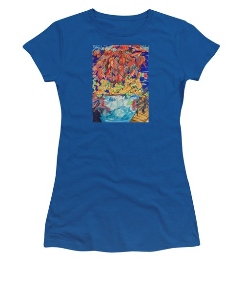 An Autumn Floral Women's T-Shirt (Junior Cut) by Esther Newman-Cohen