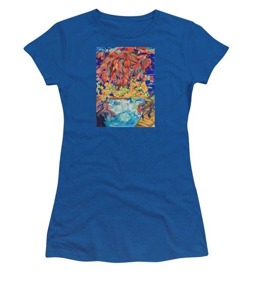 An Autumn Floral Women's T-Shirt (Athletic Fit)