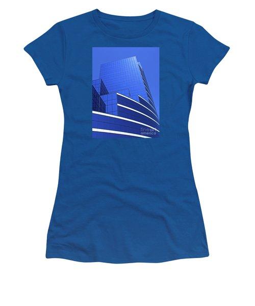 Architectural Blues Women's T-Shirt (Junior Cut) by Ann Horn