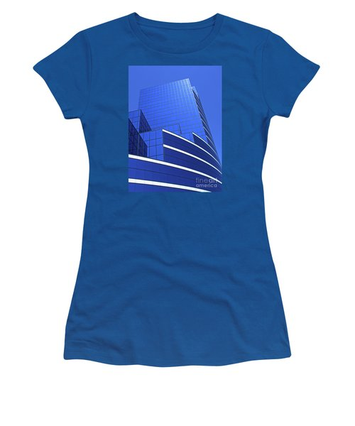 Architectural Blues Women's T-Shirt (Athletic Fit)