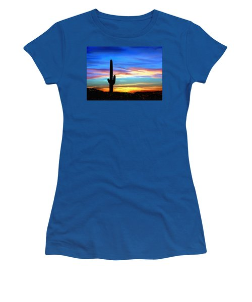 Arizona Sunset Saguaro National Park Women's T-Shirt
