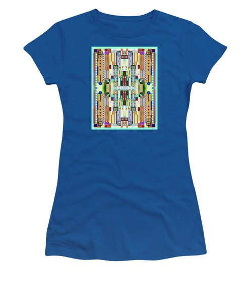 Art Deco Stained Glass 2 Women's T-Shirt (Athletic Fit)
