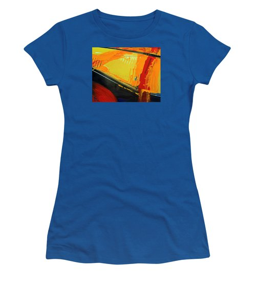 Women's T-Shirt (Junior Cut) featuring the photograph Abstract Composition No 2 by Walter Fahmy