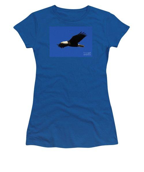 Bald Eagle Lock 14 Women's T-Shirt (Junior Cut) by Paula Guttilla