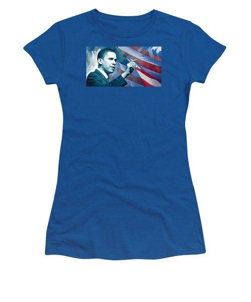 Barack Obama Artwork 2 Women's T-Shirt (Athletic Fit)
