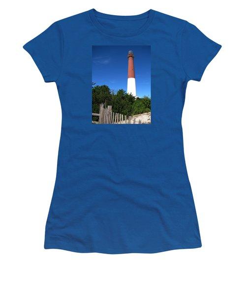 Barnegat Lighthouse Women's T-Shirt (Junior Cut) by Colleen Kammerer