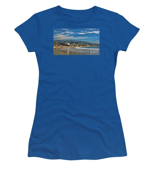 Women's T-Shirt (Junior Cut) featuring the photograph Beach Fun by Tammy Espino