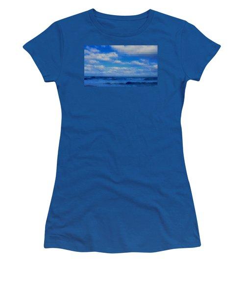 Beach Through Artificial Eyes Women's T-Shirt (Junior Cut) by David Mckinney