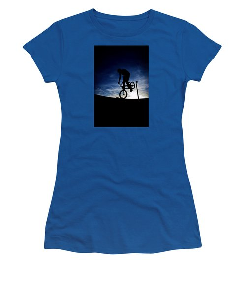 Bike Silhouette Women's T-Shirt (Junior Cut) by Joel Loftus