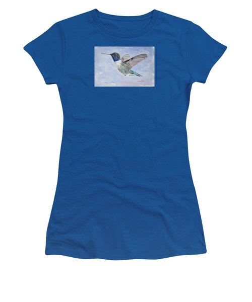 Da194 Black Chinned Hummingbird By Daniel Adams Women's T-Shirt