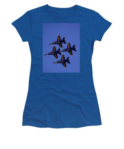 Blue Angels Women's T-Shirt (Junior Cut) by Bill Gallagher