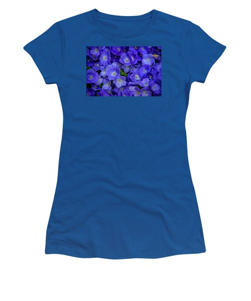 Blue Bells Carpet. Amsterdam Floral Market Women's T-Shirt
