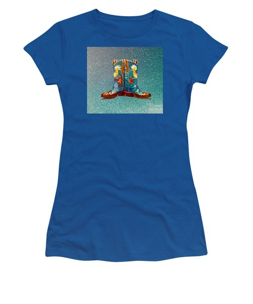 Blue Boots Women's T-Shirt (Athletic Fit)