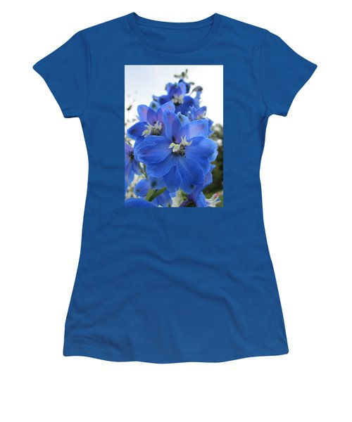 Blue Delphinium Rising Women's T-Shirt (Athletic Fit)