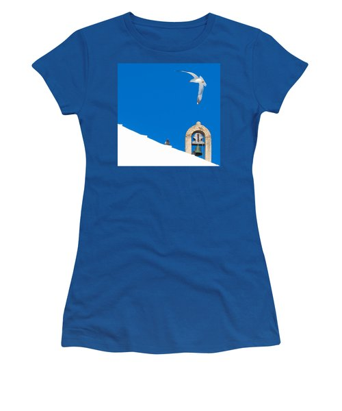 Blue Gull Women's T-Shirt (Athletic Fit)