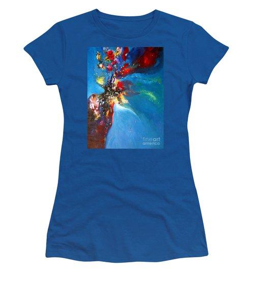 Blue Harmony  Women's T-Shirt (Junior Cut) by Sanjay Punekar