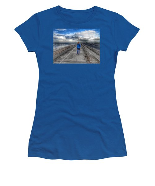 Blue Moods Women's T-Shirt (Athletic Fit)