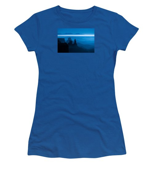 Women's T-Shirt (Athletic Fit) featuring the photograph Blue Moon Mesa by Dustin  LeFevre