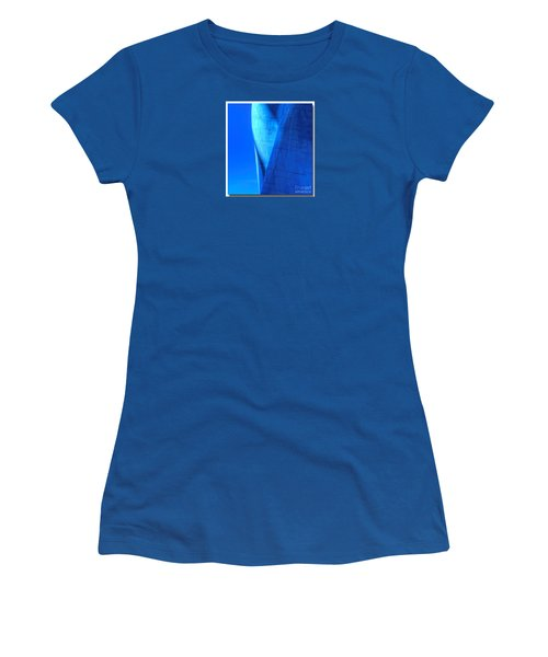 Women's T-Shirt (Junior Cut) featuring the photograph Blue On Blue Cropped Version by Chris Anderson