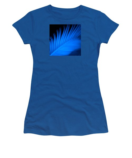 Blue Palm Women's T-Shirt (Junior Cut) by Darryl Dalton
