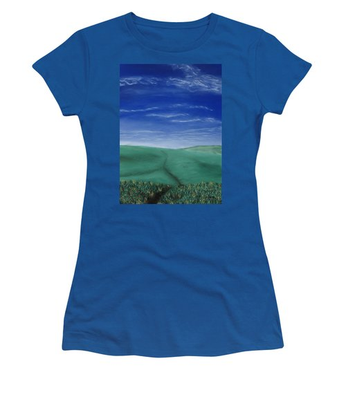 Blue Skies Ahead Women's T-Shirt (Athletic Fit)