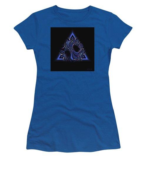 Blue Triangle Jewel Abstract Women's T-Shirt