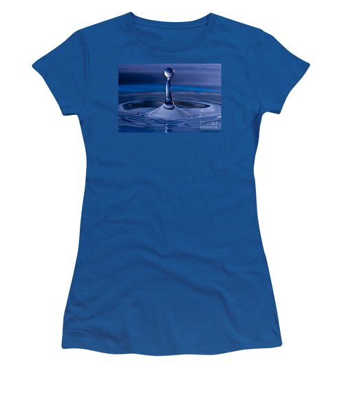 Blue Water Drop Women's T-Shirt