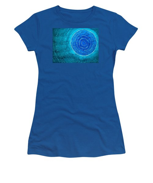 Blue World Original Painting Women's T-Shirt (Junior Cut) by Sol Luckman