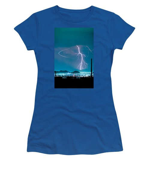 Bo Trek The Lightning Man Women's T-Shirt (Athletic Fit)