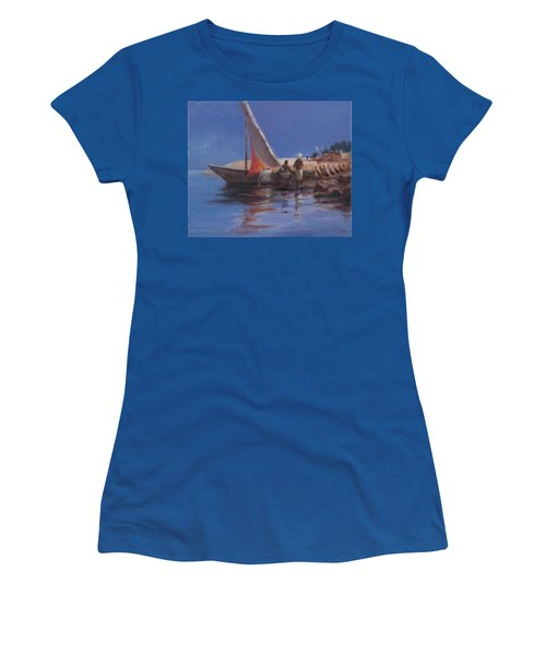 Boat Yard, Kilifi, 2012 Acrylic On Canvas Women's T-Shirt