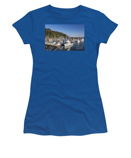 Boats Moored At Charleston Marina Women's T-Shirt