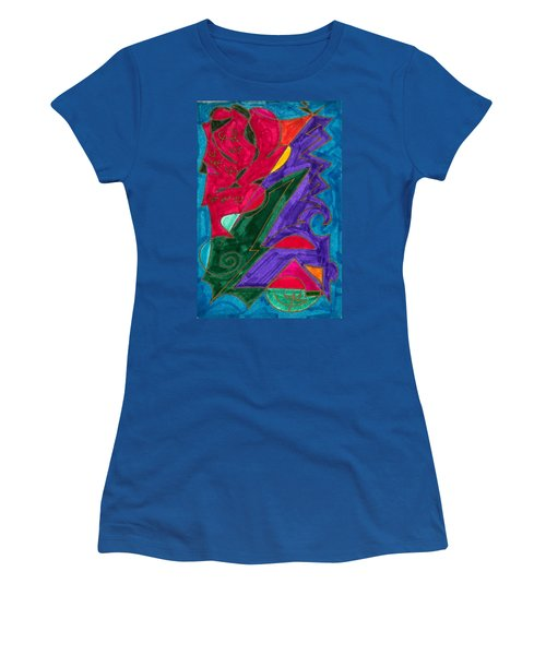 Women's T-Shirt (Junior Cut) featuring the mixed media Body Zero # 5 by Clarity Artists