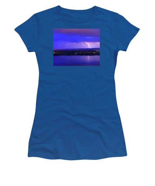 Bolt Over Gatineau Hills  Women's T-Shirt