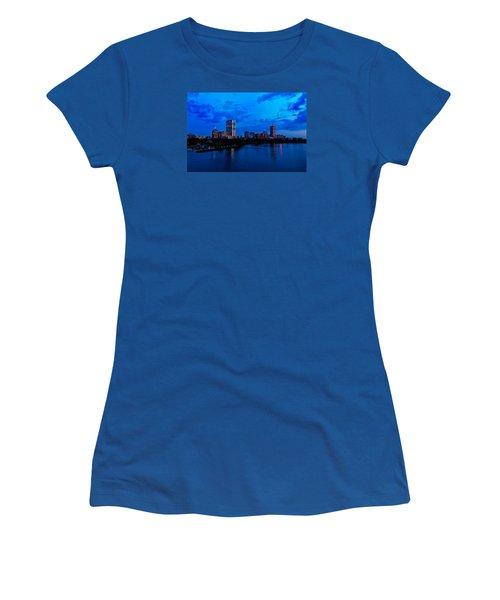 Boston Evening Women's T-Shirt (Junior Cut) by Rick Berk