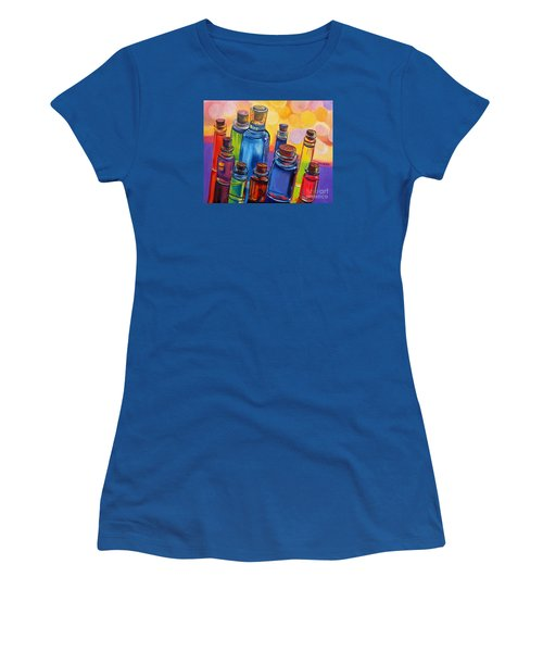 Bottled Rainbow Women's T-Shirt (Junior Cut) by Julie Brugh Riffey