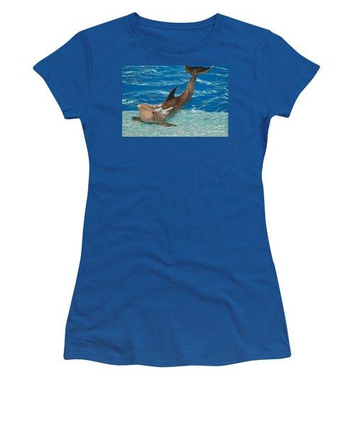 Bottlenose Dolphin Women's T-Shirt (Junior Cut) by DejaVu Designs