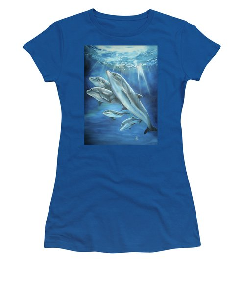 Bottlenose Dolphins Women's T-Shirt (Athletic Fit)