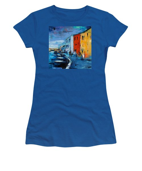 Burano Canal - Venice Women's T-Shirt (Athletic Fit)