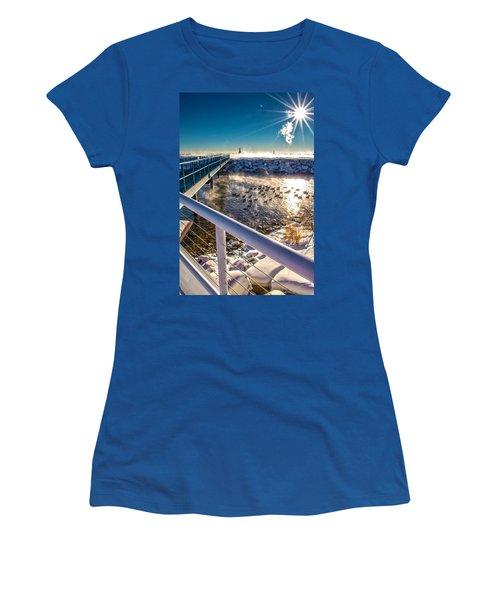 Burst Of Life Women's T-Shirt (Athletic Fit)