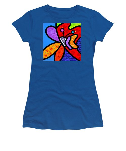 Butterfly Orchid Women's T-Shirt (Athletic Fit)